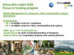 klima aktiv mobil 2020 focus in funding program