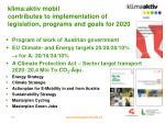 klima aktiv mobil contributes to implementation of legislation programs and goals for 2020