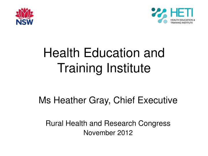 health education and training institute n.