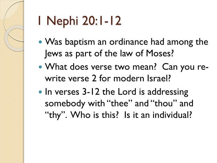 1 Nephi 20:1-12