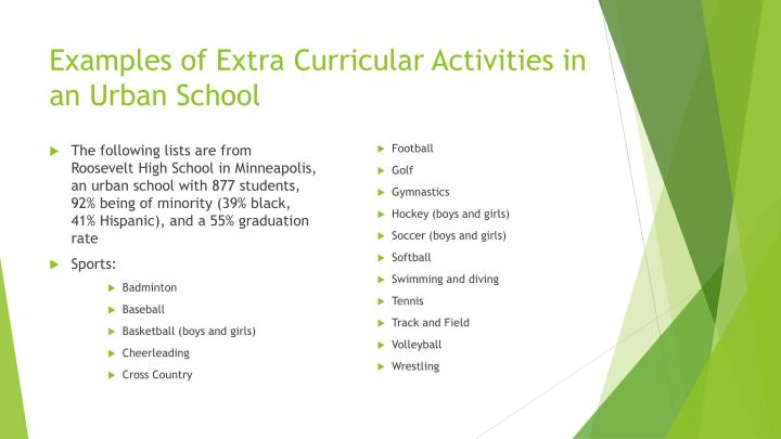 the advantages of extra curricular activities