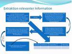 extraktion relevanter information