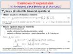 examples of expressions cf for instance sahal br chot et al a a 2007