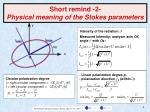short remind 2 physical meaning of the stokes parameters