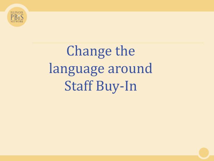 Change the language around