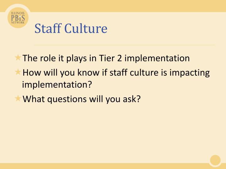 Staff Culture