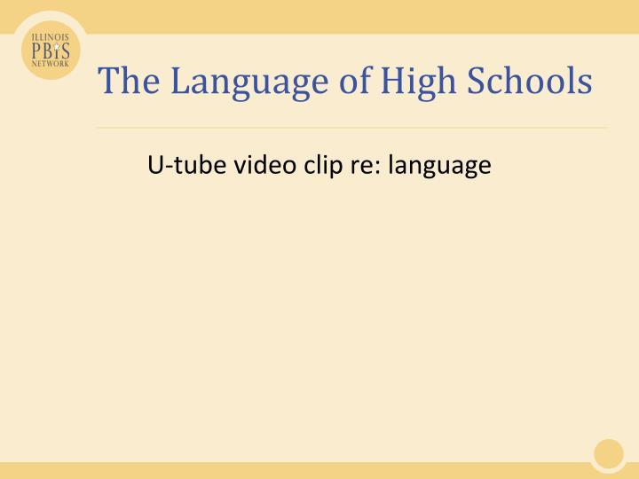 The Language of High Schools