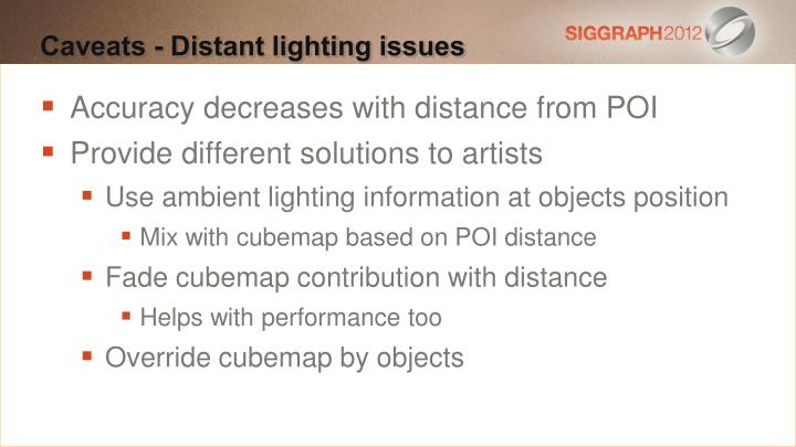 Accuracy decreases with distance from POI