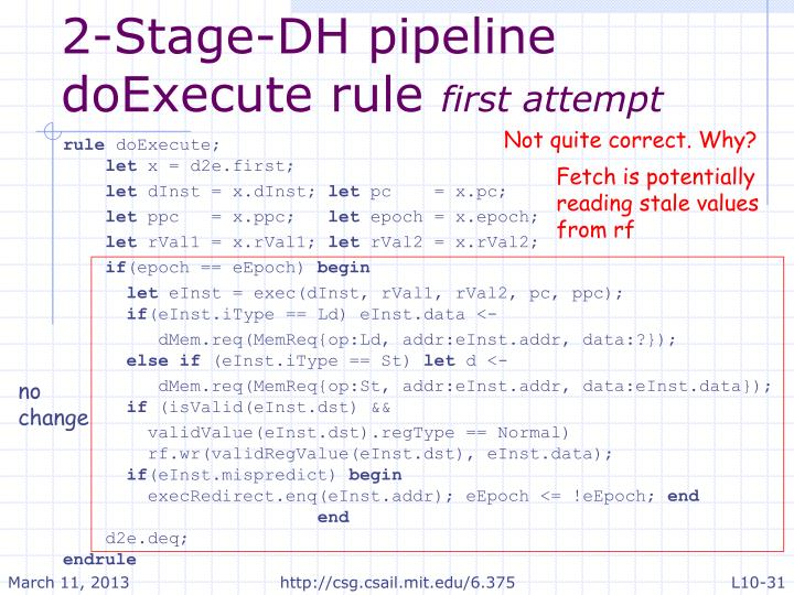 2-Stage-DH pipeline