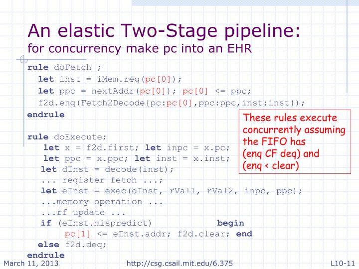 An elastic Two-Stage pipeline: