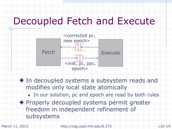 Decoupled Fetch and Execute