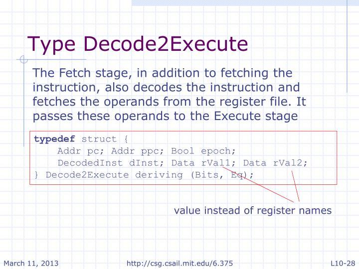 Type Decode2Execute