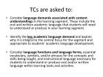 tcs are asked to