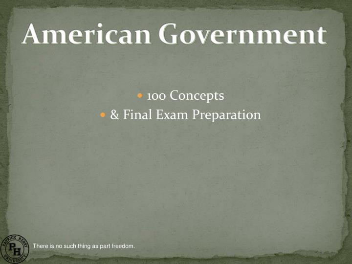 100 concepts final exam preparation n.