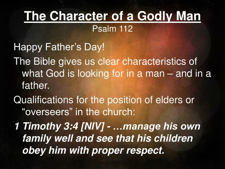 the character of a godly man psalm 112 n.