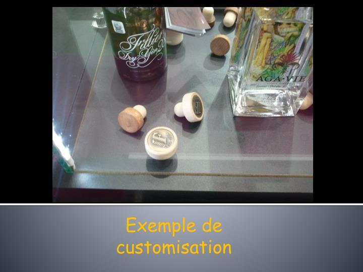 Exemple de customisation