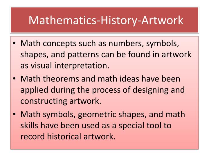 Ppt History And Pedagogy Of Mathematics Connected By Artwork