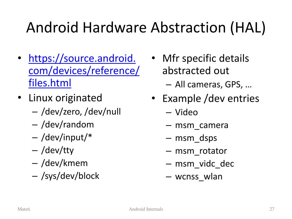 "PPT - Android ""OS"" Internals PowerPoint Presentation - ID"