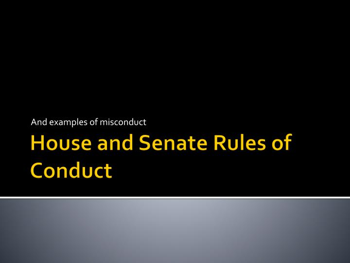 and examples of misconduct n.