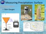 measuring precipitation surface