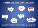 labels we give our children