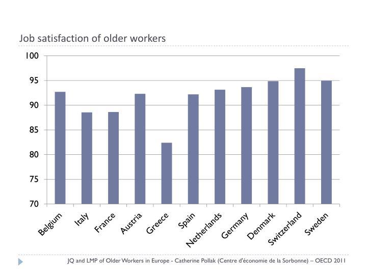 Job satisfaction of older workers