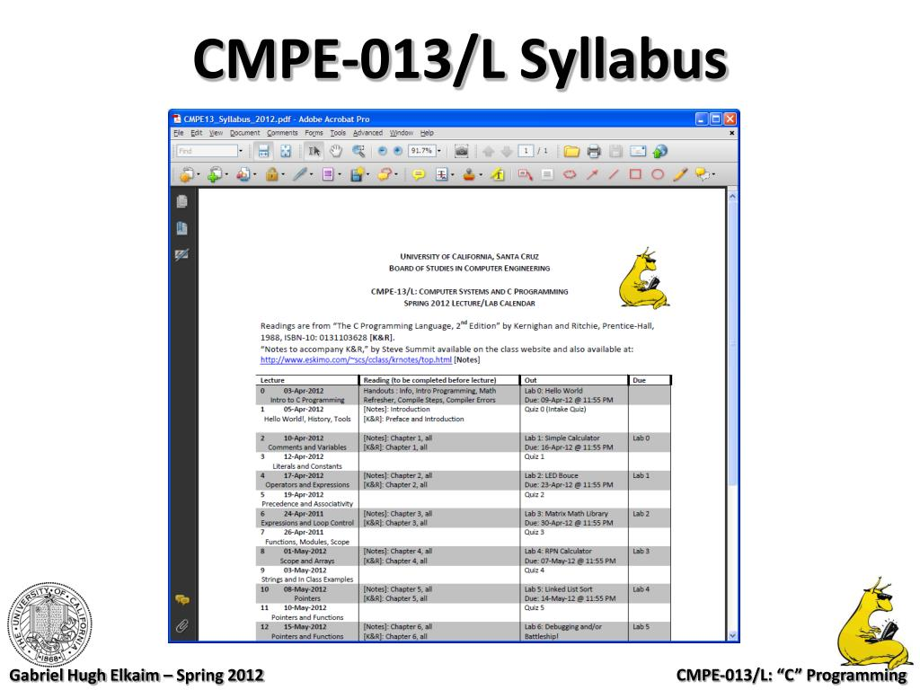 """PPT - CMPE-013/L Computer Systems and """"C"""" Programming"""