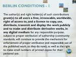 berlin conditions 1