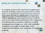 berlin conditions 2