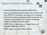 since pubmed central