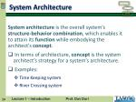 system a rchitecture