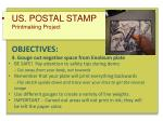 us postal stamp printmaking project objectives 4 gouge out negative space from linoleum plate