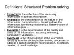 definitions structured problem solving