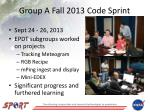 group a fall 2013 code sprint