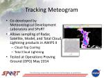 tracking meteogram