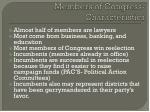 members of congress characteristics