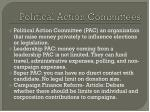 political action committees