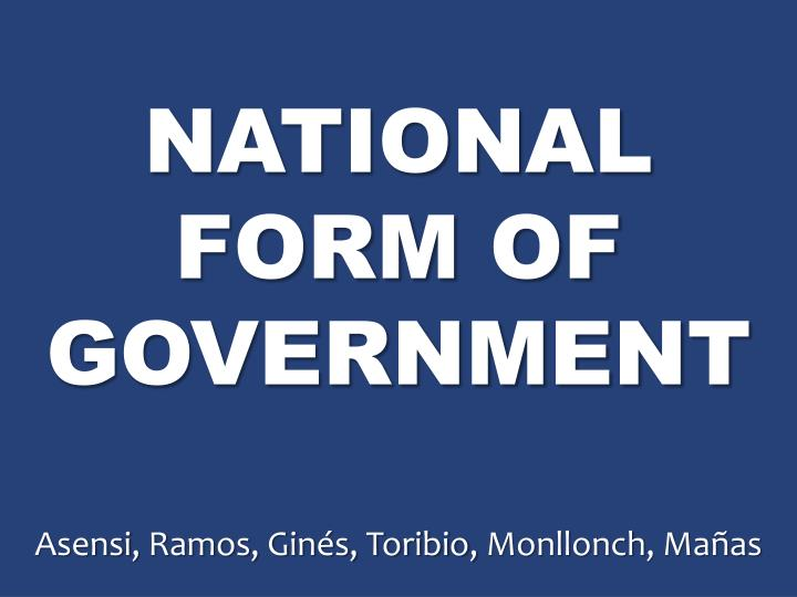 national form of government n.