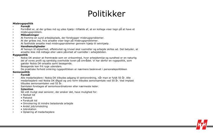 Politikker