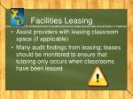 facilities leasing