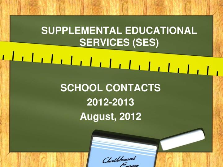 supplemental educational services ses n.