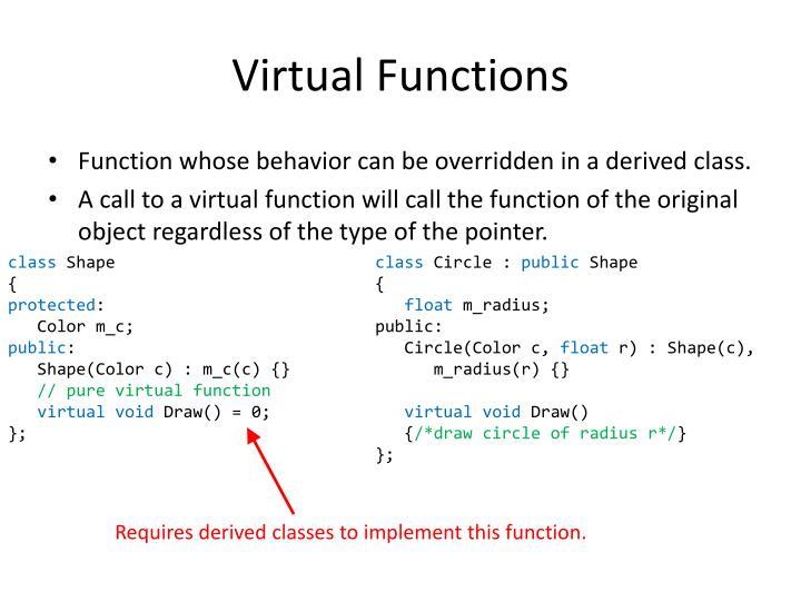 Virtual Functions