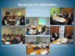reuniones con stakeholders
