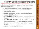 healthy social fitness behaviors