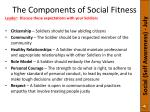 the components of social fitness