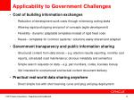applicability to government challenges