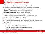 deployment usage scenarios