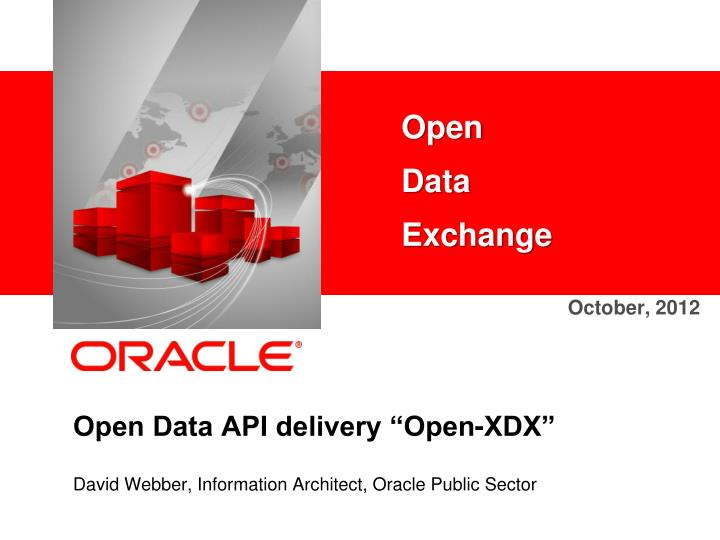 open data api delivery open xdx n.