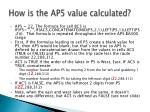 how is the ap5 value calculated