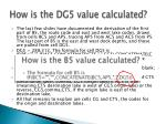 how is the dg5 value calculated